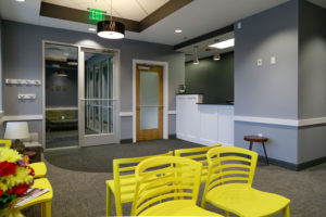 View of the front desk at Willow Lake Dental